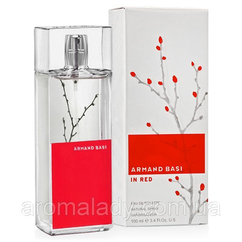 Женская туалетная вода Armand Basi In Red (Арманд Баси Ин Ред), 100 ml