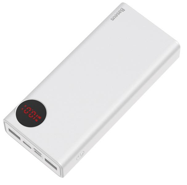 Універсальний зарядний пристрій BASEUS BS-20KP202 повер банк для ноутбука і телефону 20000 mAh Білий (SUN3548)