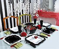 Сервиз Luminarc AUTHENTIC Black&White /19 пр. арт E6195