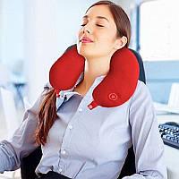 Антистрессовая подушка-подголовник массажная Neck Massage Cushion (Neck Pillow)
