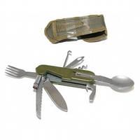 Нож складной нержавейка с пластиковой ручкой 7,5 см 7 функций