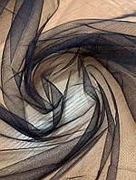 Ткань Сетка однотонная черный, фото 1