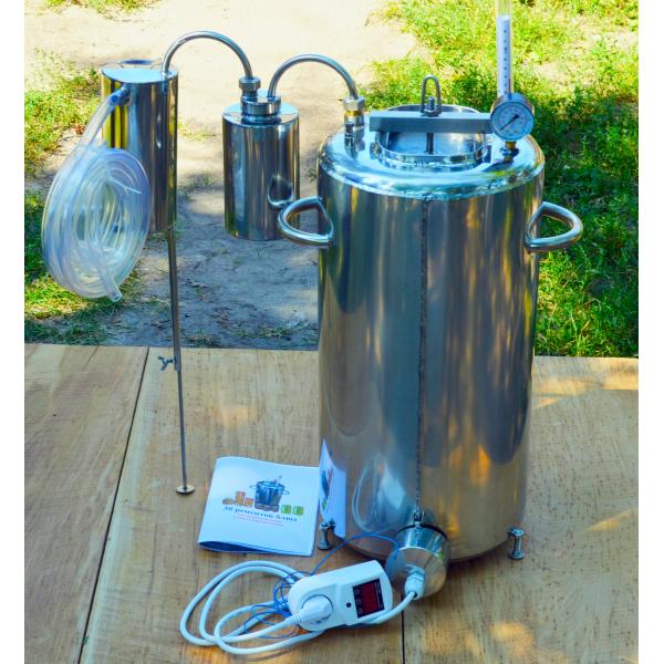 Автоклав электрический, огневой 35л (28 банок 0,5л) + Сухопарник нерж + Дистиллятор