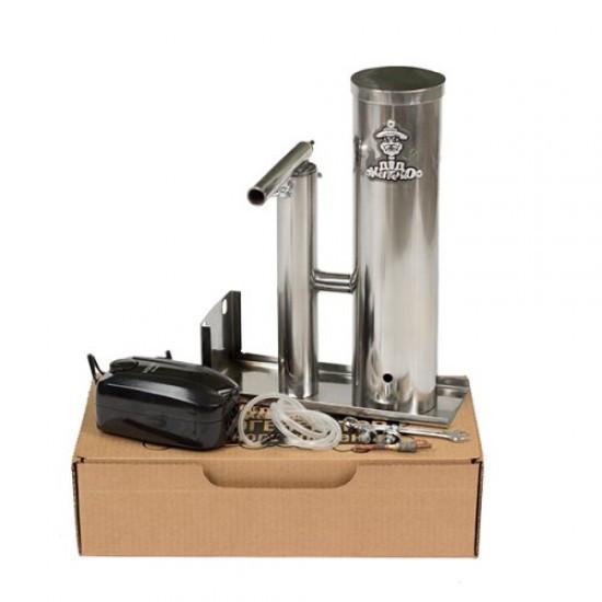 Дымогенератор из нержавейки с конденсатосборником и охладителем на 2,5 литра