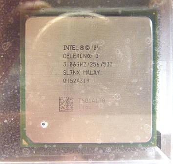 Процессор Intel Celeron D 345 3.06GHz/256/533 (SL7NX) s775, tray