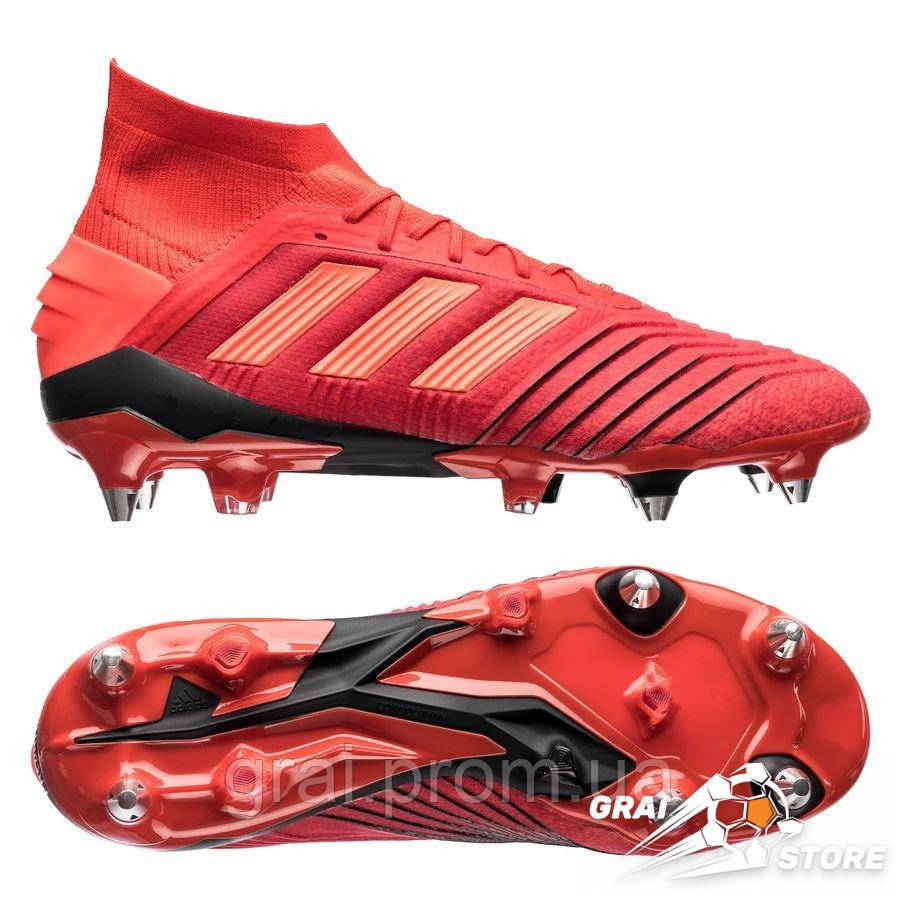 7a6987ff Бутсы adidas Predator 19.1 SG Red/Black - Интернет магазин Грай в Киеве