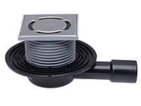 HL90.2 Трап для балконов и террасс DN40/50 горизонтальный с запахозапирающей заслонкой