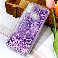 Чехол Glitter для Xiaomi Mi 8 SE Бампер Жидкий блеск Фиолетовый