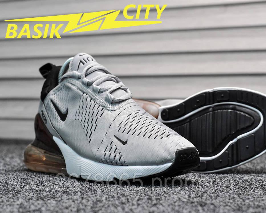 Женские кроссовки серые Nike Air Max 270 Silver / Dark Bordo  38 размер - 24см