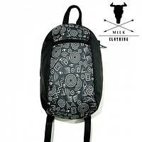 Рюкзак мини MILK clothing принт черный лето