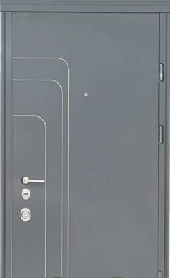 Двери Трэк антрацит/белое дерево «СТРАЖ» (Украина)