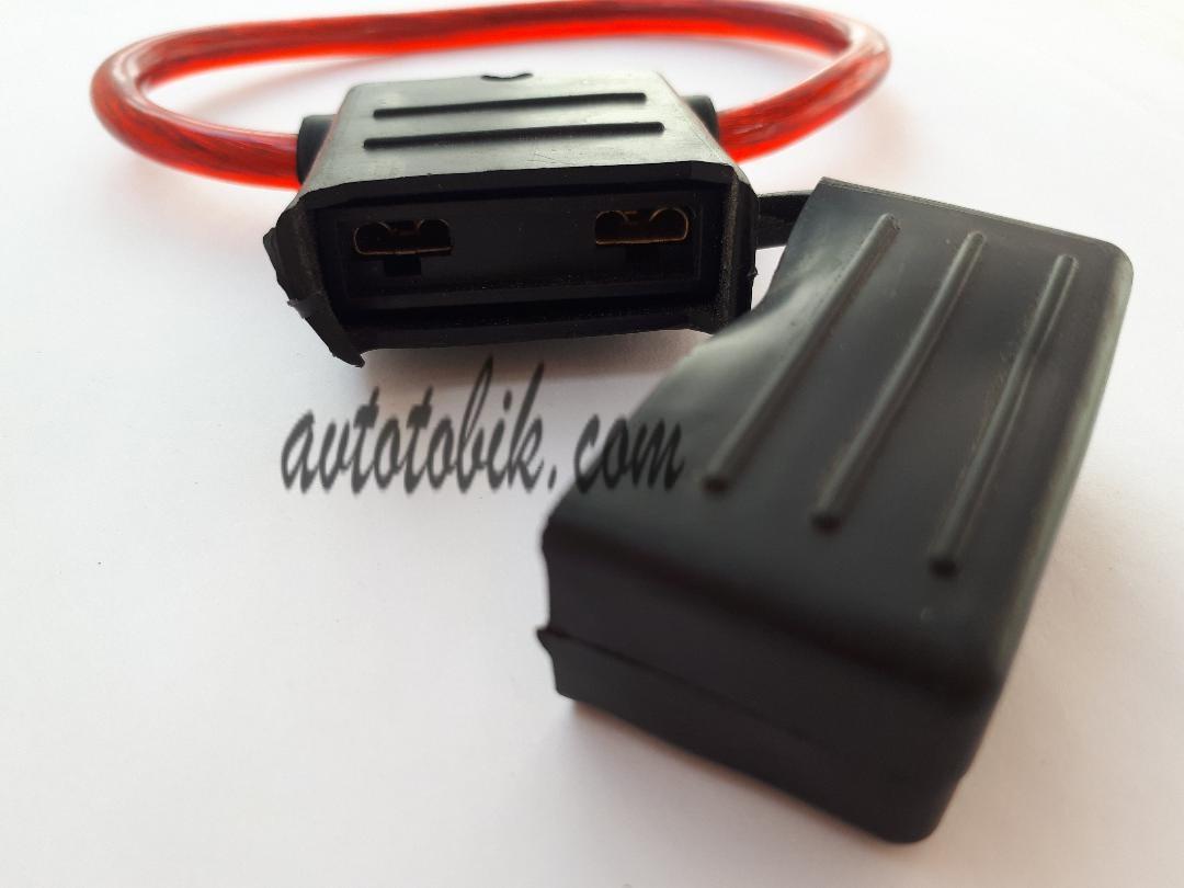Каркас предохранителя черно-красный под MAXI предохранитель с проводом (1 шт.)