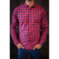 Рубашка Garage красно-синий