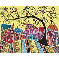 Картины по номерам / обложка. Яркий городок 40х50см арт. КНО5019