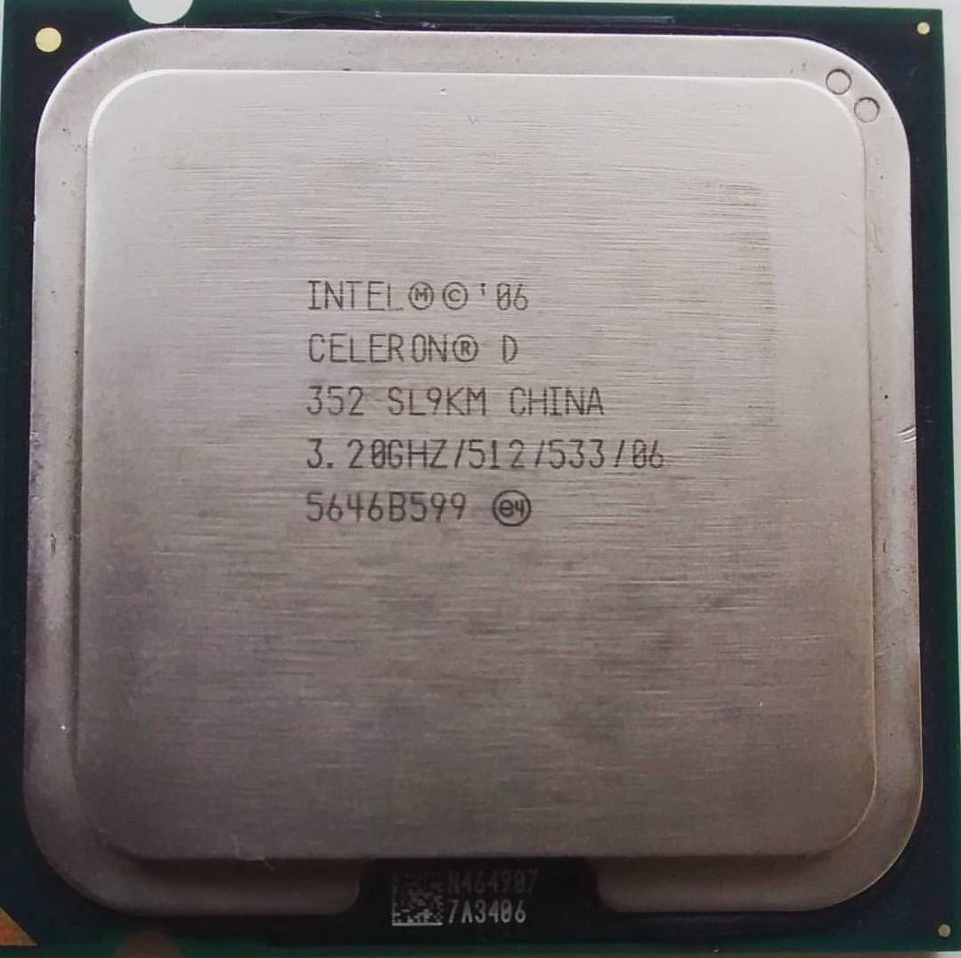 Процессор Intel Celeron D 352 3.20GHz/512/533 (SL9KM) s775, tray