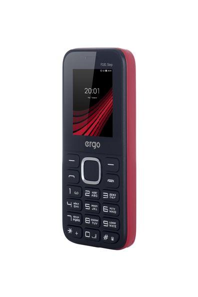 Удобный и компактный кнопочный мобильный телефон на 2 сим карты Ergo F181 Step красный