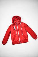 Бордовая детская подростковая зимняя куртка парка для мальчика Павлин (Pavlin) Мастер