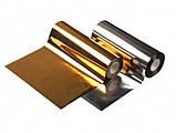 Фольга трансферна золото 1метр, фото 3