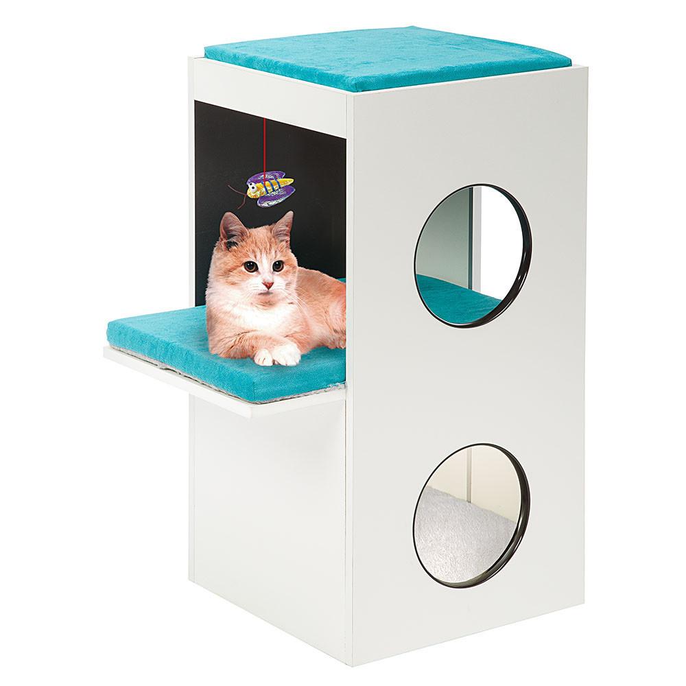 Домик для кошек с когтеточкой, игрушкой и местом для сна BLANCO