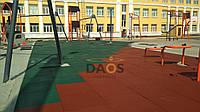 Укладання гумової плитки, гумового покриття.Від 80 грн до 180 грн за метр квадратний.