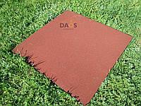 Резиновая плитка  для дачи и сада,терракот. 1000х1000 мм. Толщина 20 мм, фото 1
