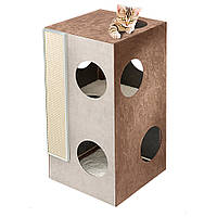 CAT TREE KUBO 2 Ferplast Домик для кошек с когтеточкой и зонами для отдыха и игр. Деревянная конструкция , фото 1