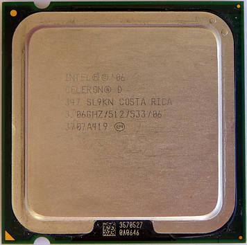 Процессор Intel Celeron D 347 3.06GHz/512/533 (SL9KN) s775, tray