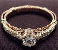 """Золотое кольцо """"Эсмеральда"""" 585 пробы женское"""