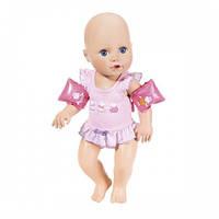 Интерактивная кукла BABY ANNABELL - НАУЧИ МЕНЯ ПЛАВАТЬ (43 см, с аксессуарами, плавает в воде) 700051