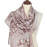 Лунная мелодия 1513-3, павлопосадский шарф шелковый крепдешиновый с подрубкой, фото 2