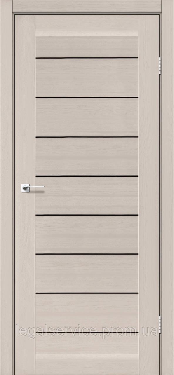 "Дверное полотно ТМ ""Leodor"" модель ""Neapol"" дуб латте"