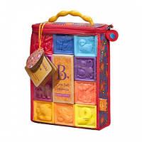 Развивающие силиконовые кубики - ПОСЧИТАЙ-КА! (10 кубиков,  в сумочке) Battat BX1002Z