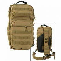 "Туристичний однолямочный рюкзак Mil-tec ""ONE STRAP ASSAULT PACK SM"" Coyote на 40 л. (14059205)"
