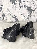 Женские кроссовки Balenciaga Triple S Clear Sole Black, женские черные кроссовки баленчиага трипл с, фото 2