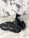 Женские кроссовки Balenciaga Triple S Clear Sole Black, женские черные кроссовки баленчиага трипл с, фото 3