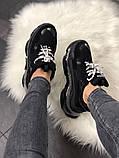 Женские кроссовки Balenciaga Triple S Clear Sole Black, женские черные кроссовки баленчиага трипл с, фото 4