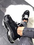 Женские кроссовки Balenciaga Triple S Clear Sole Black, женские черные кроссовки баленчиага трипл с, фото 5