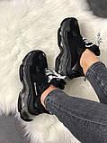 Женские кроссовки Balenciaga Triple S Clear Sole Black, женские черные кроссовки баленчиага трипл с, фото 6