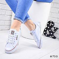 Кеды женские белые на шнуровке Фил, фото 1