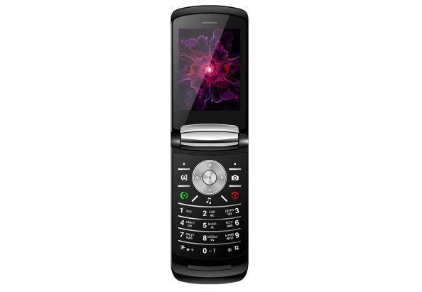 Кнопковий телефон розкладушка на 2 сім карти з великим екраном Nomi i283 чорний