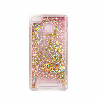 Чехол Glitter для Xiaomi Redmi 3s / 3 Pro Бампер Жидкий блеск звезды розовый, фото 1