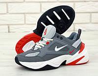 Кроссовки мужские Nike M2K Tekno реплика ААА+ р. 40-45 серый (живые фото)