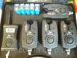 Набор электронных сигнализаторов поклевки с пейджером 4+1 Shark.