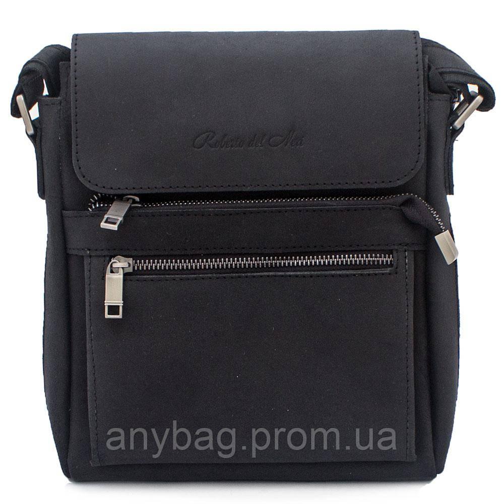 b21c43b94b3d Мужская кожаная сумка через плечо Vesson B-VO10639 черная - интернет-магазин  anyBag в