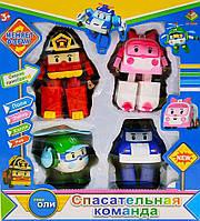 Игрушка трансформер Робокар Поли, 4 шт в наборе