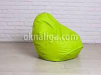 Кресло мешок груша детская   салатовый Oksford