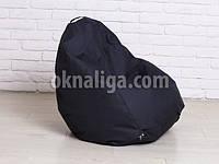 Кресло мешок груша детская   черный Oxford