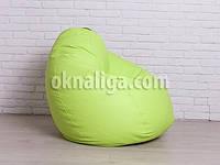 Кресло мешок груша большая    салатовый кожзам Zeus