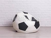 Крісло м'яч 90 см | білий+чорний кожзам Zeus, фото 1