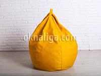 Кресло мешок груша большая |  желтый шенилл Bonus